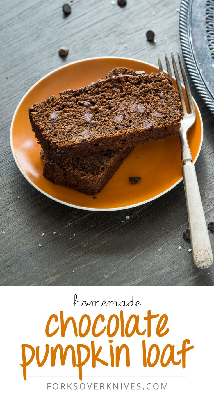 Chocolate Pumpkin Loaf. You'll want to make two loaves of this. Trust me. Also, I subbed in coconut sugar with great results!