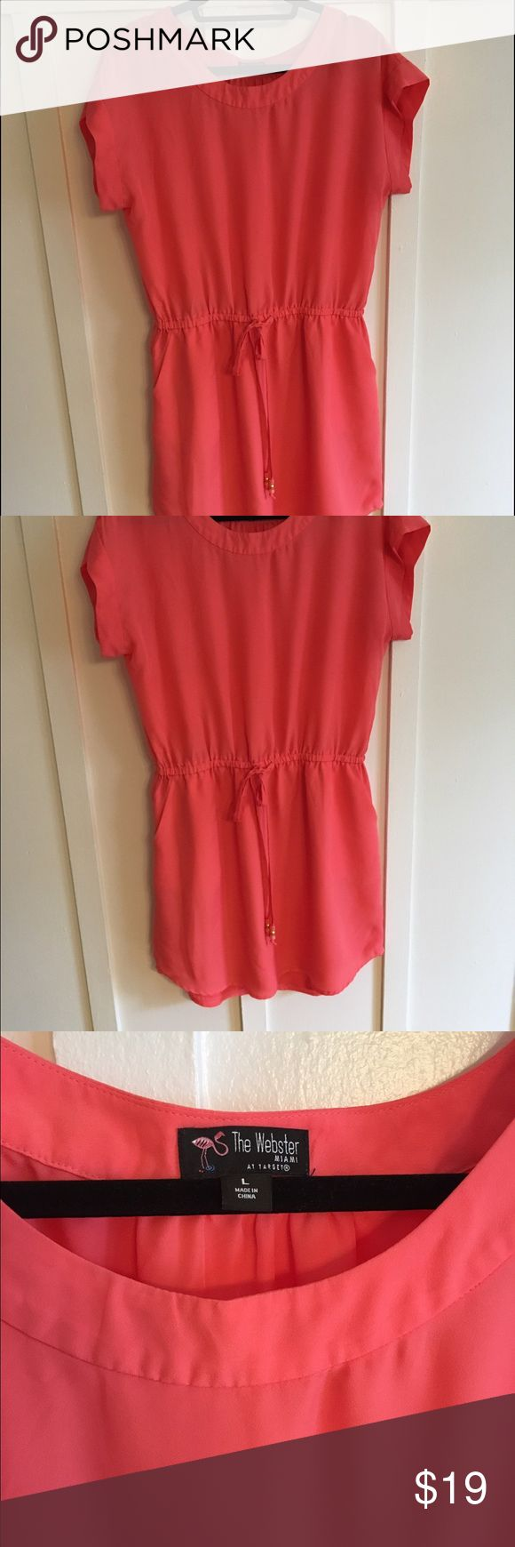 Coral Sundress Fully lined with drawstring waist and pockets! The Webster at Target Dresses Mini