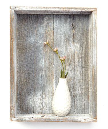 This White Wash Shadowbox Shelf is perfect! #zulilyfinds