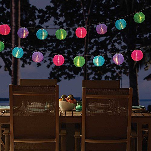 Add brilliant beautiful and colorful illumination to any outdoor setting with the Solar Lantern String Lights. These gorgeous all-weather solar powered lanterns feature LED lights that boast spirit...