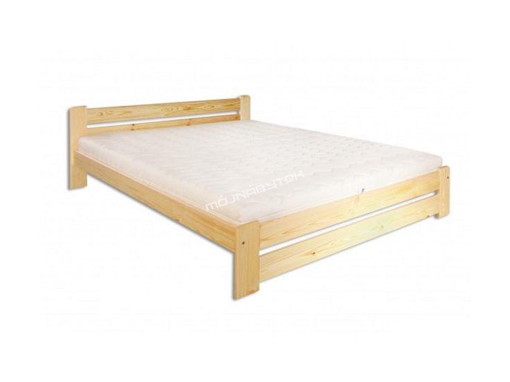 Drevená jednolôžková posteľ LK118 / 120 cm vyrobená z masívneho borovicového…