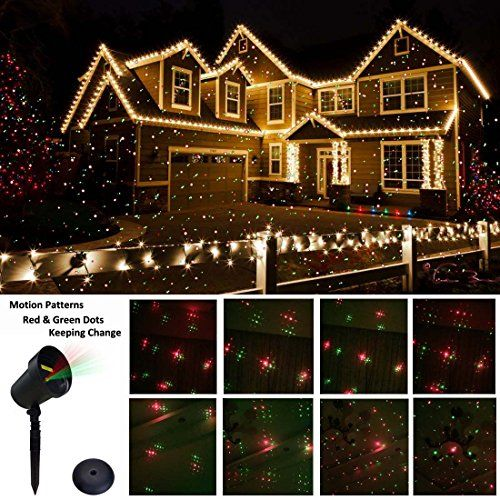 From 29.99 Christmas Projector Lights Outdoormoving Star Red & Green Christmas Fairy Lights For Xmasparty Holiday Light Show Star Christmas Decorations Lights (uk Plug) Waterproof Garden Starry Lights Show