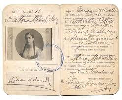 Galería de fotos. Carnet universitario de María Moliner (1918) #MariaMoliner