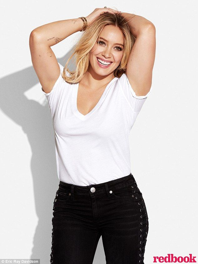 Looking good! Hilary Duff posed for the April issue of Redbook...