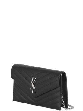 """saint laurent - женщины - сумки на ремне - сумка """"monogram"""" из зернистой кожи"""