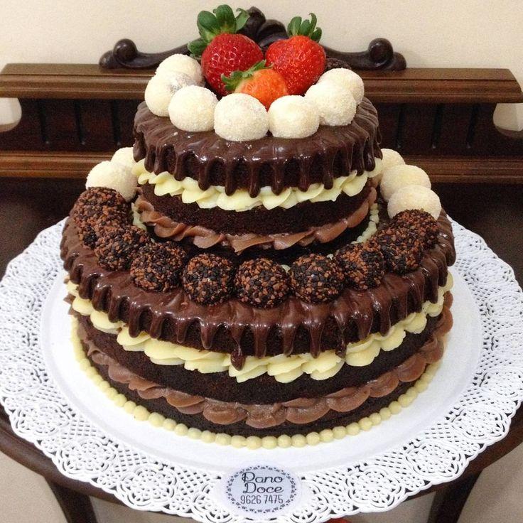 """179 Me gusta, 2 comentarios - Neny Cakes & Co. (@nenycakes) en Instagram: """"E vamos fechar o domingo com esse lindão  Casadinho gourmet com morangos  Bolo de chocolate bem…"""""""