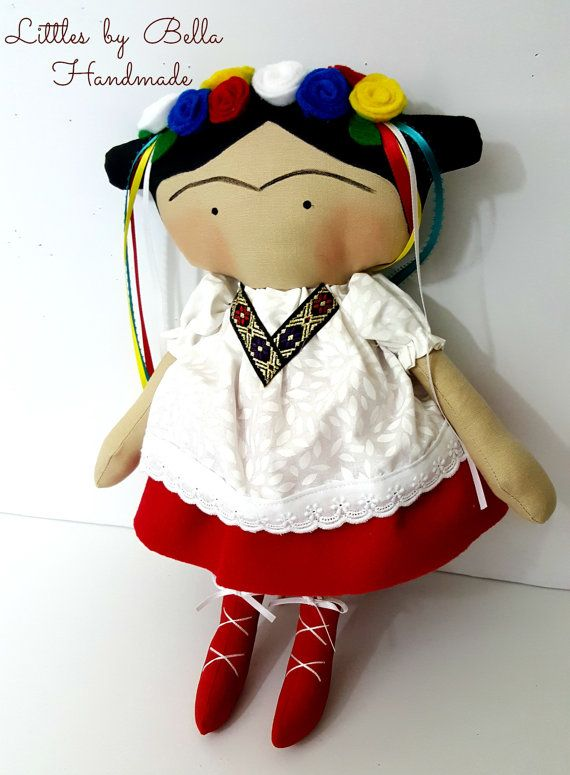 Frida Kahlo doll Tilda children tilda doll cute by littlesbyBella