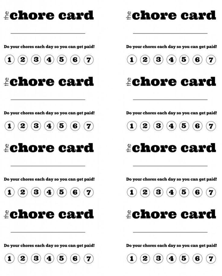graphic relating to Free Printable Punch Card Template titled Do it yourself Printable Youngster s Chore Punch Card little one things Chore