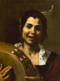 Muchacha con pandero - José de Ribera, el Spagnole... (I.M.)