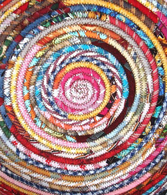 Diy Rag Rug Basket: 17 Best Images About Clothesline Coil Baskets On Pinterest