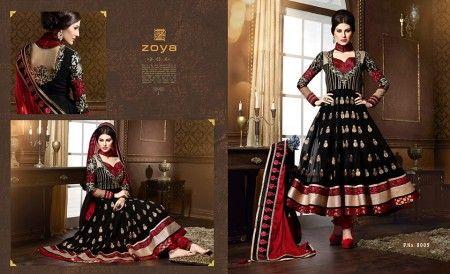 Zoya Solitaire Anarkali Suits Designs 2014-2015 Shalwar Kameez Dresses Collection (4)