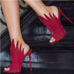 Shoespie Suede Peep toe Dress Sandals