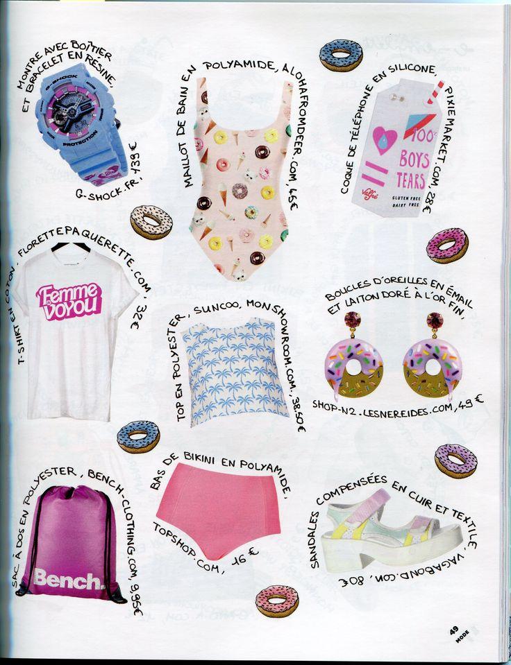 Parution presse N2 Paris boucles d'oreilles Sucré Salé, donuts, Paulette Magazine