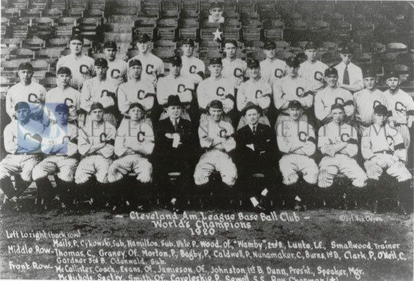 Cleveland Indians win the World Series 1920