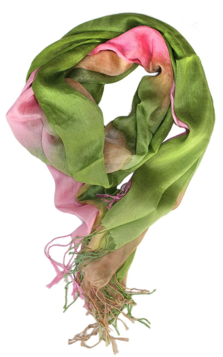 pink and green watercolor scarf my style then now