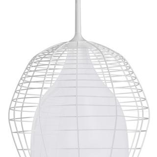Suspension Cage Grande - cage blanche/diffuseur blanc