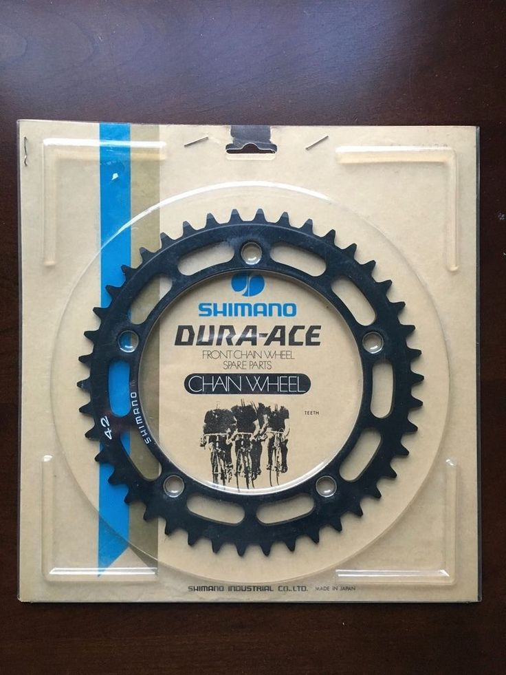Chainrings and BMX Sprockets 177811: Shimano Dura Ace Chainring Chainwheel Vintage Road 42T 130Bcd Nos -> BUY IT NOW ONLY: $70 on eBay!