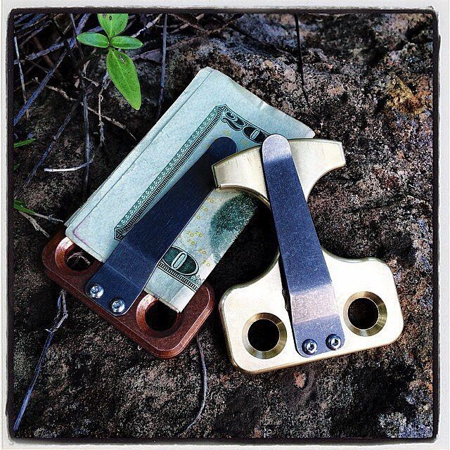 Nice execution - combining a money clip and a knuck. Thanks @techiesplat: Hi!  My name is Nick and I make these Nuk things.  Now even more covert! #nicknuk  #knuck #selfdefense #post