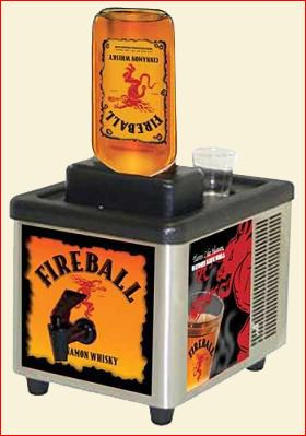 fireball whiskey machine