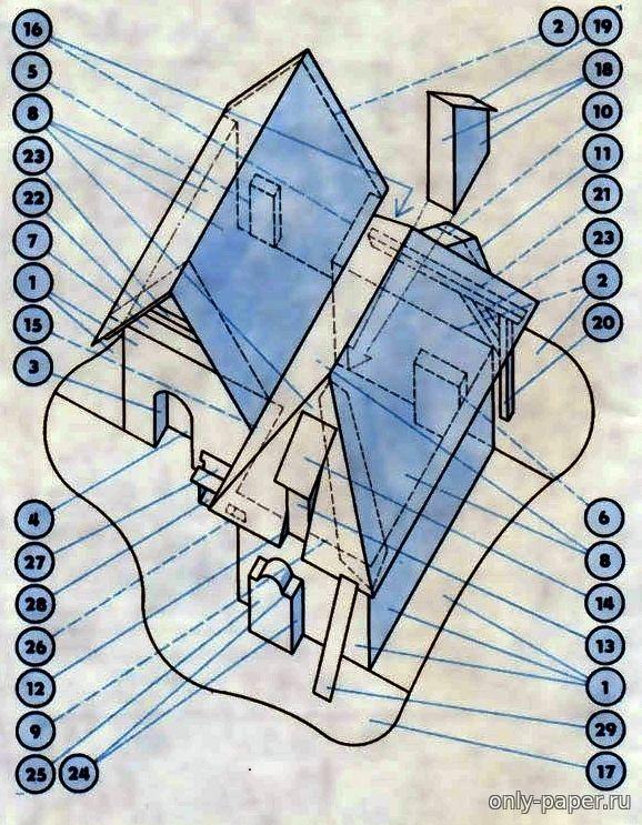 Vinohradnicke stavby z juhovychodnej Moravy ( Elektrón-Zenit 1992-05) из бумаги, модели бумажные скачать бесплатно - Дом - Архитектура - Каталог моделей - «Только бумага»