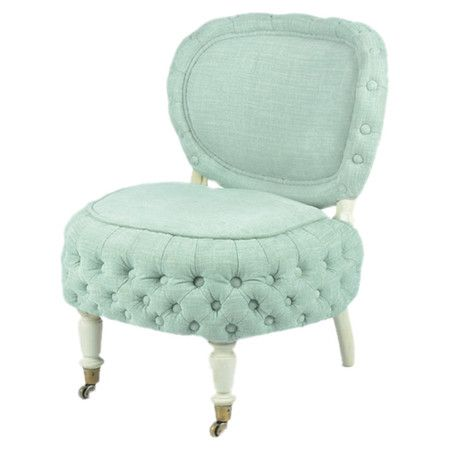 Love this chair but not the color. Lend a pop of color to your living room or parlor with this eye-catching accent chair, showcasing a button-tufted frame and light teal upholstery. ...