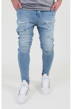 Sik Silk - Distressed Drop Crotch Jeans - Blue | Mix up your denim game with this drop crotch pair from Sik Silk! Available Now @ Urban Celebrity!