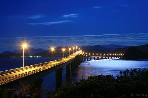 山口県の風景2: Night View, Bridges Japan, Tsunoshima Japan, Beautiful Places, Japantsunoshima Ohashi, Tsunoshima Bridges, Bridges Yamaguchi, Yamaguchi Prefectur, Ohashi Bridges