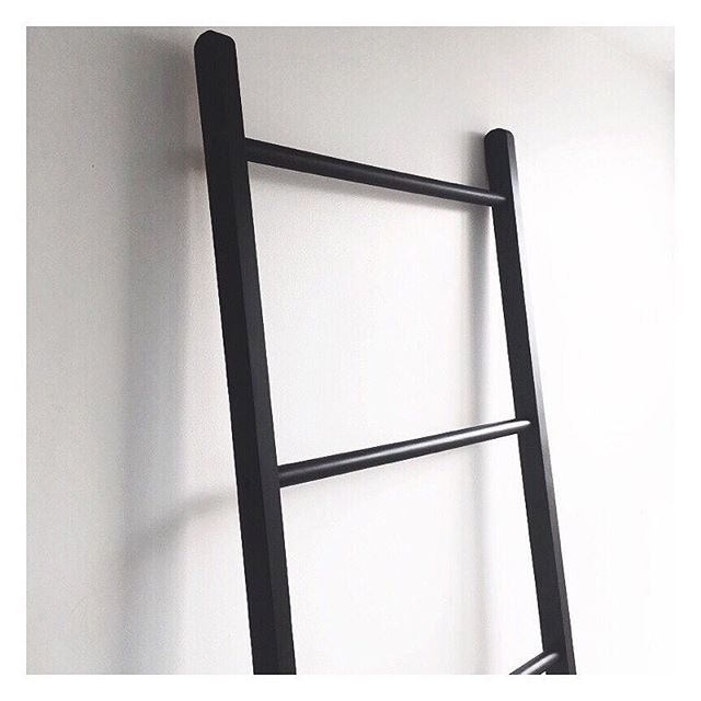 Finally got around to painting the $25 bamboo ladder from @kmartaus. I was so torn between painting it white or black, and leaving it, but now that it's done, I couldn't be happier!  #Kmart #kmarthack #kmsrtstyling #kmartaus #thebargaindiaries #diy
