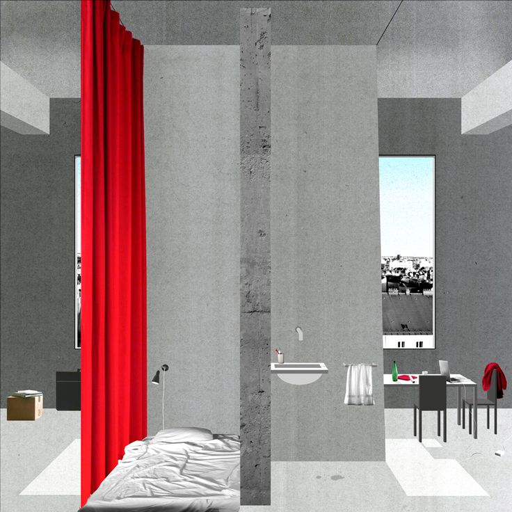 AA School of Architecture 2014 - Diploma 14 - Marie Louise Raue, Shared living and work space