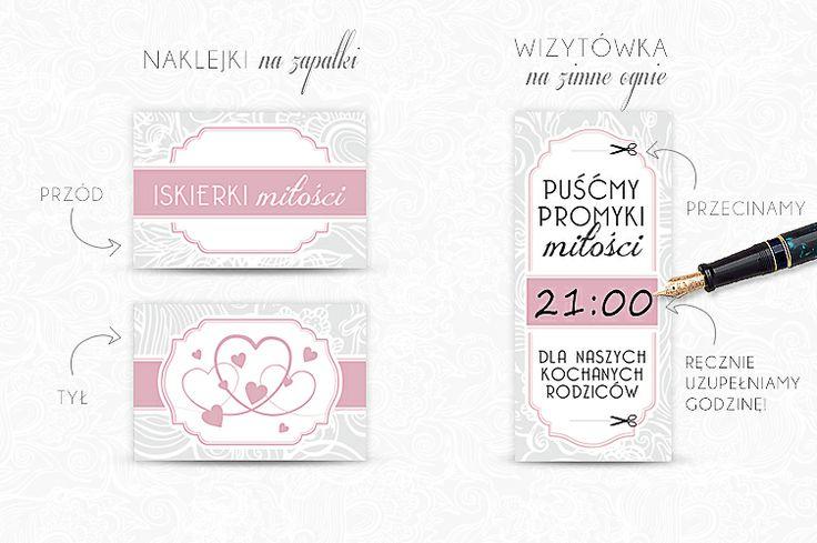 Darmowe dodatki ślubne - etykietki na zapałki i zimne ognie
