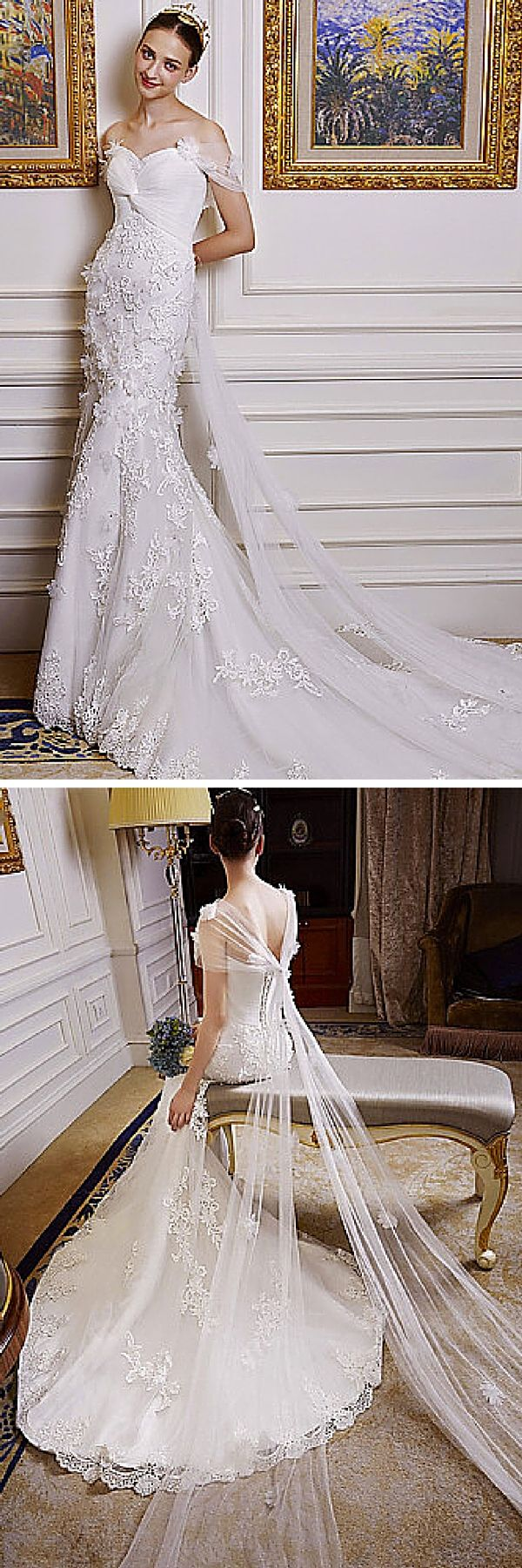 Popular This wedding gown is so romantic It has to be one of the prettiest mermaid
