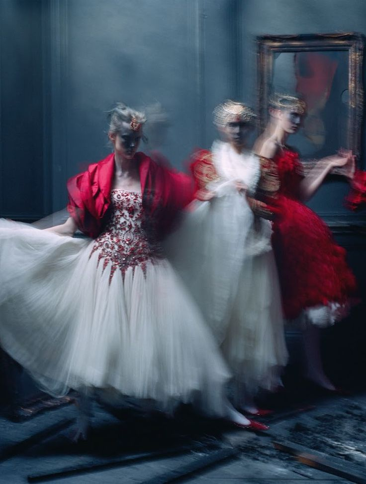 Aya Jones, Xiao Wen Ju, Harleth Kuusik, Yumi Lambert & Nastya Sten by Tim Walker for UK Vogue March 2015
