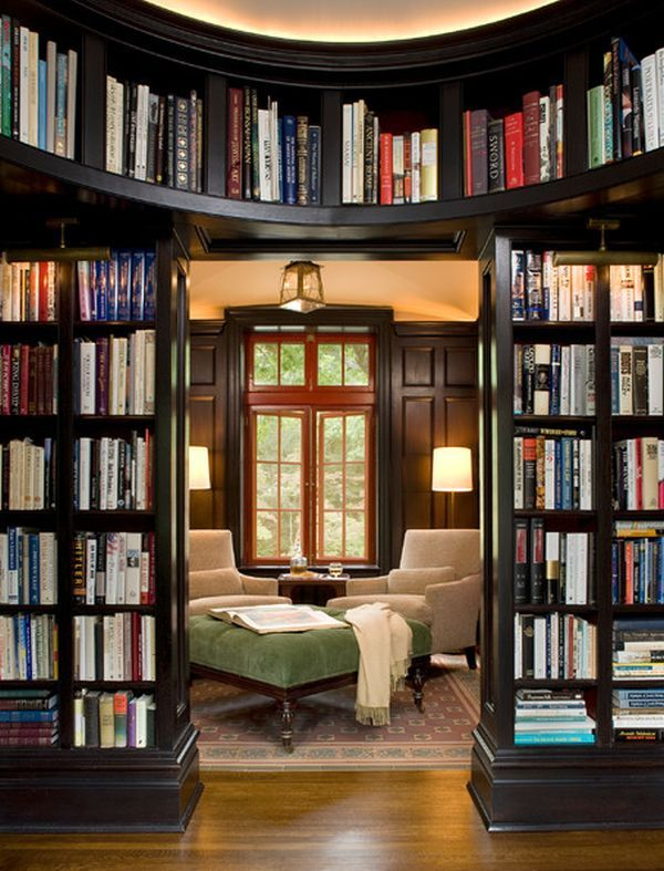 A nice entrance to a writing or reading room for writers. Works for both Booktique and my apartment:-""