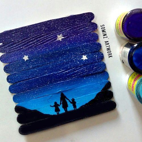 Resultado de imagen para painting on ice cream sticks