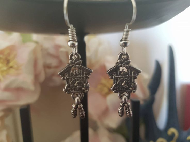 Cuckoo Clock Earrings by LykoCrafter on Etsy