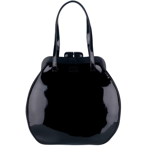 Lulu Guinness Patent Pollyanna Shoulder Handbag, Black ($465) ? liked on  Polyvore
