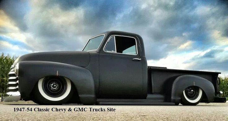 Classic Chevy Trucks For Sale >> Chevy chevrolet advanced design pick up truck flat black and white walls | Vehicles: Advanced ...