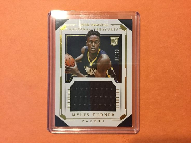 2015/16 Panini National Treasures Super Swatches 4/99 MYLES TURNER RC #IndianaPacers