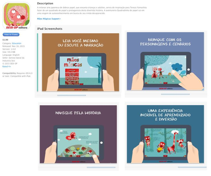 """Baixe agora no seu iPad o aplicativo """"Mãos Mágicas"""" https://itunes.apple.com/us/app/id1050952132"""