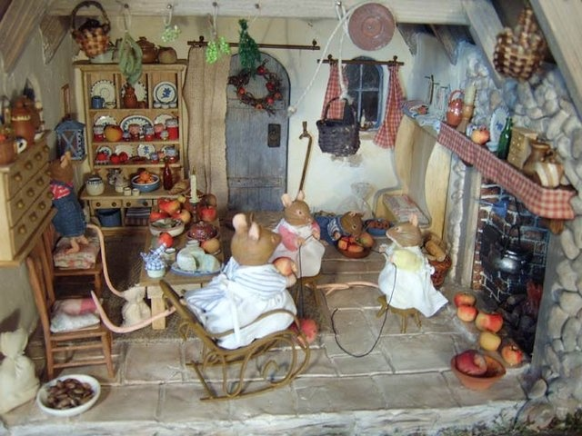 Mouse cottage interior
