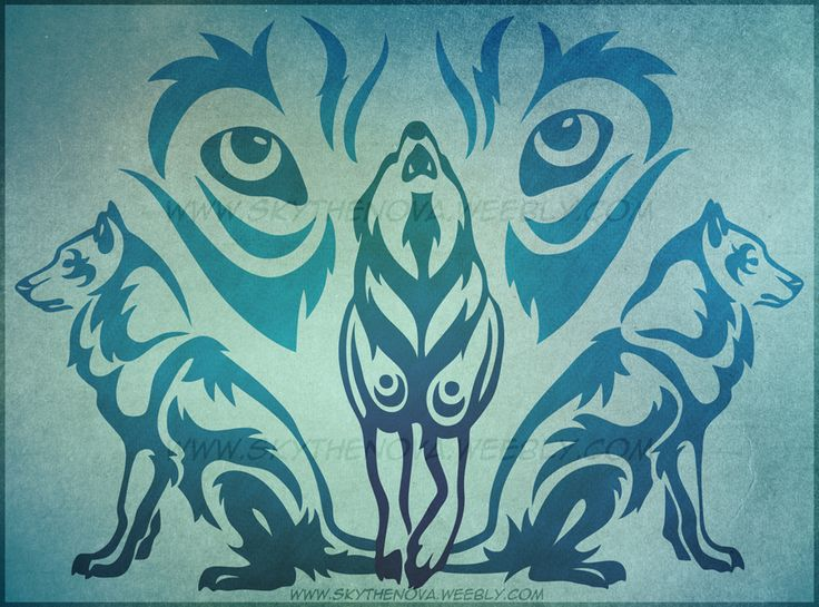 Tribal Wolf Paw   Wolf Pack Tribal by NathalieNova