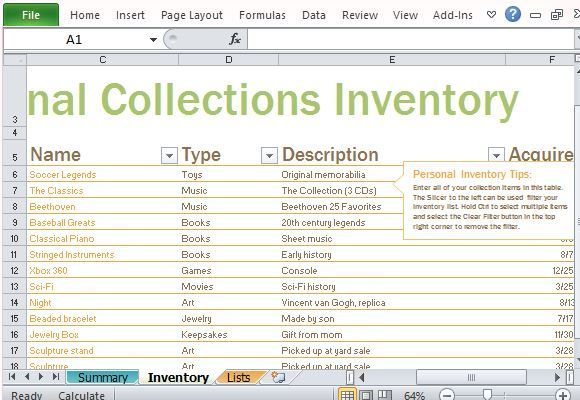 jewelry inventory spreadsheet template personal inventory