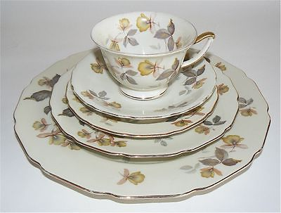 THOMAS IVORY DINNER SALAD BREAD PLATE CUP SAUCER PORCELAIN BAVARIA GERMANY