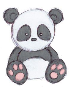 panda drawing - Google Search                                                                                                                                                                                 More