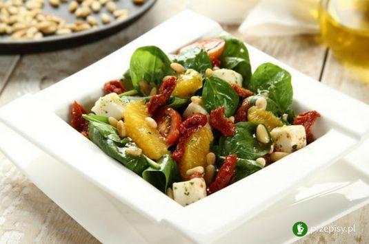 Lekka sałatka ze szpinakiem i pomarańczą #salad #orange #spinach