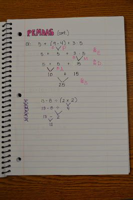 math journal page examples