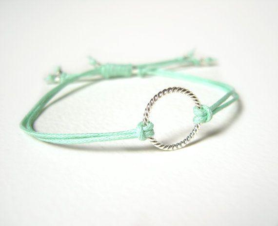 Mint Bracelet Eternity Bracelet String Friendship Bracelet
