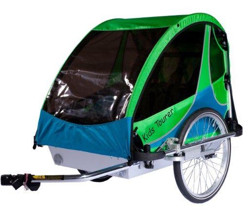 Fahrradanhänger Kid's Tourer M2, grün/blau