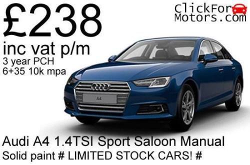 Audi-A4-1-4TSI-Sport-Saloon-Manual-238-inc-vat-p-m-Personal-lease