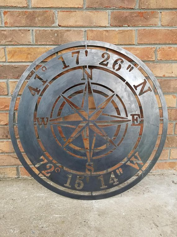 Description Let me make your Personalized Compass Rose an heirloom that will last for generations using 1/8 thick solid steel. Your Compass sign will be cut out using a home made CNC plasma table that precisely cuts out your design using a 50,000 degree plasma torch. Once your design